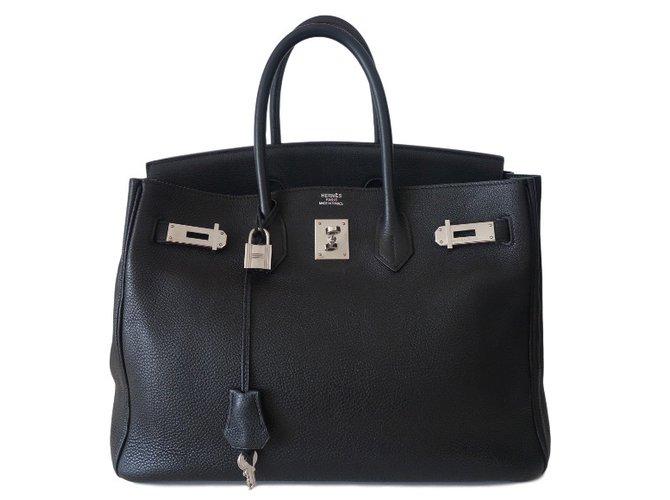 e901bead08 Sacs à main Hermès SAC HERMES 35 BIRKIN NOIR Cuir Noir ref.37538 ...