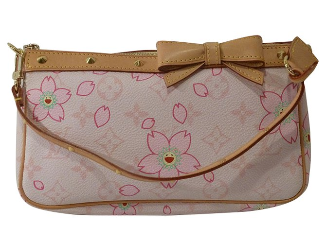 b576d17414 Louis Vuitton Takashi Murakami Cherry Blossom Monogram Stud Shoulder Bag  Handbags Other Pink ref.37553