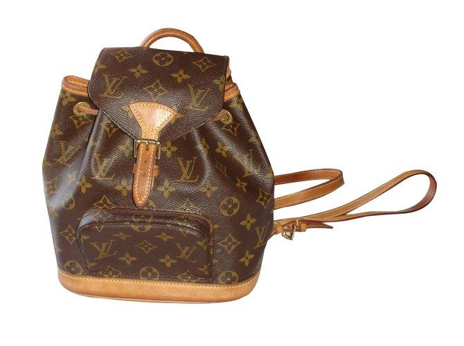 eda8c3d3b500 Louis Vuitton Backpack Backpacks Leather Brown ref.37659 - Joli Closet
