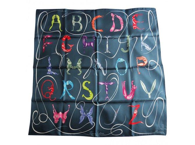 Hermès Silk scarves Faune Lettrée Silk scarves Silk Multiple colors ref.37888