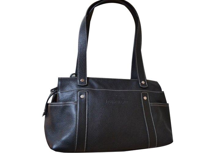 Longchamp Handbag Handbags Leather Black Ref 37890