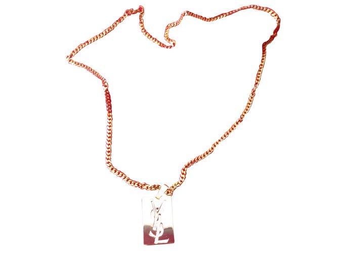 7cc7098ff2a Yves Saint Laurent Pendant necklace Pendant necklaces Metal Golden ref.37909
