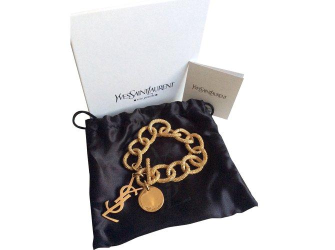 Yves Saint Laurent Bracelet Bracelets Gold-plated Golden ref.37981