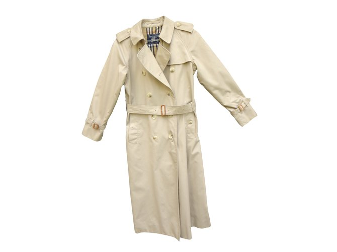 Burberry Trench coat Trench coats Cotton,Polyester Beige ref.38195 ... 99e494c7ef3