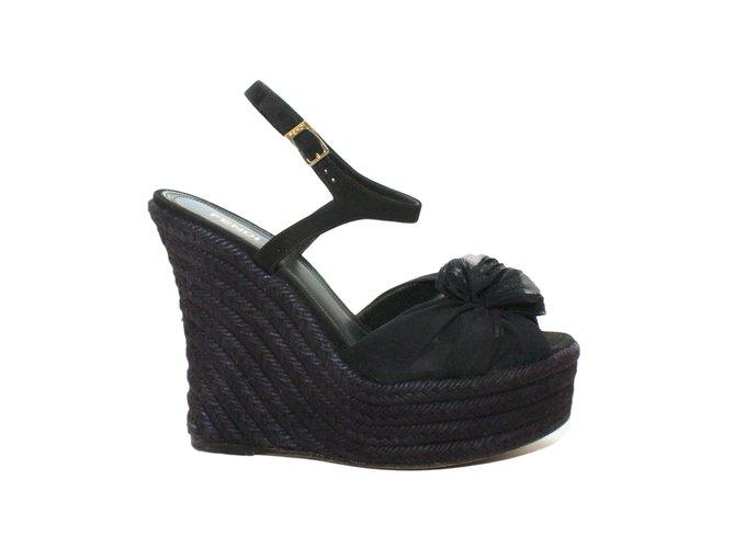 Fendi Wedge Mules Wedge Mules Rope Black Ref38253 Joli Closet