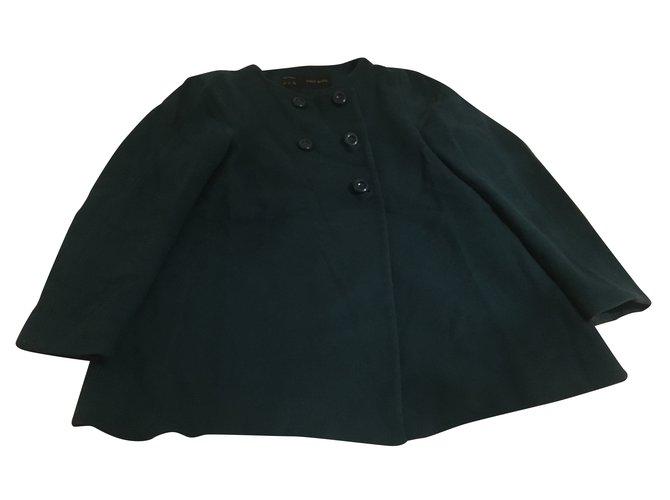manteaux zara manteau zara en laine laine bleu joli closet. Black Bedroom Furniture Sets. Home Design Ideas