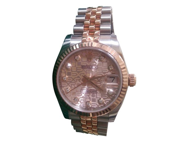 e5082e8fd4c Montres Rolex LADY DATEJUST 31 EVEROSE JUBILE Or rose Rose ref.38794 ...