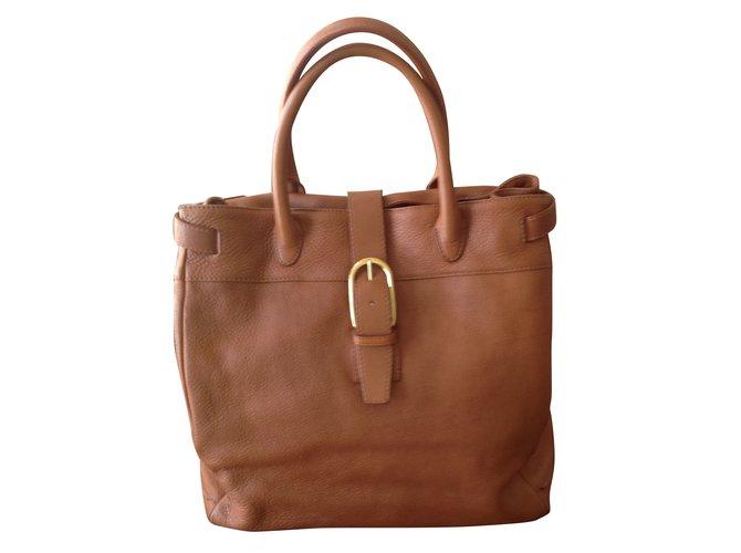 Sergio Rossi Handbag Handbags Leather Caramel Ref 38887