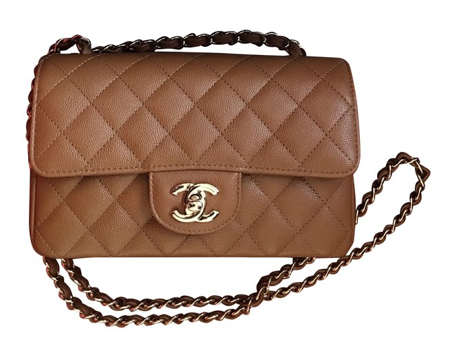 43337a00c543c2 Chanel Timeless Handbags Leather Caramel ref.38937 - Joli Closet