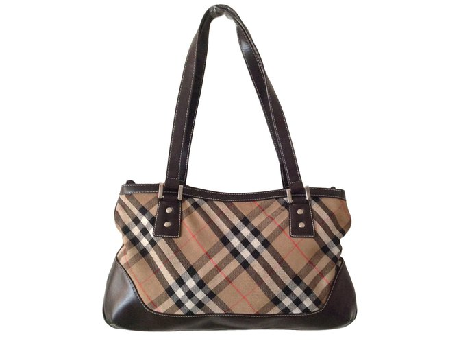 13f7411823 Sacs à main Burberry Burberrys of london Blue Label Toile Beige ref.39007