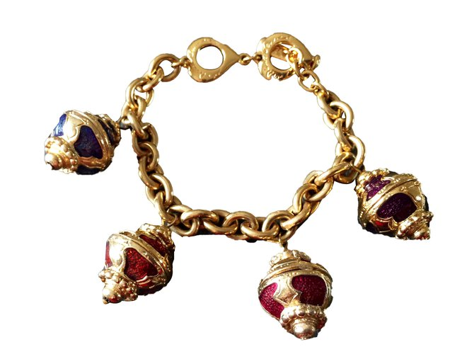 97c1e1b2e29 Yves Saint Laurent Bracelet Bracelets Metal Golden ref.39076 - Joli ...