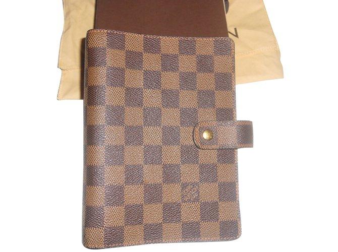 04a9d222ed385 Louis Vuitton AGENDA DAMIER EBENE Purses
