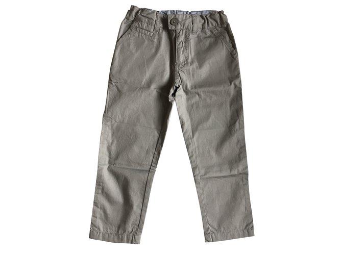 Pantalons garçon Petit Bateau Pantalons garçon Coton Gris ref.39322