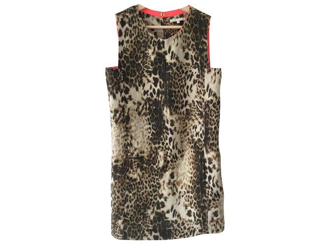 robe soie maje leopard