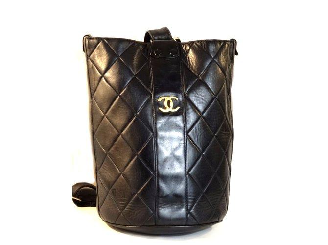 6f95ee71f83d Chanel Backpack Backpacks Leather Black ref.39512 - Joli Closet
