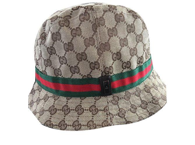 Gucci Hat Beanie Hats Beanies Cotton Brown ref.39584 - Joli Closet 2f3559e9731
