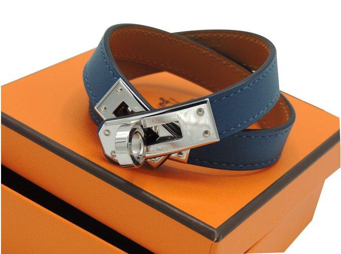 bd779ff27ab Bracelets Hermès Hermes bracelet kelly double tour neuf Cuir Bleu ref.39594