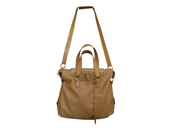 1eb5f7ace9783 Yves Saint Laurent muse two messenger Handbags Leather Caramel ref.39829