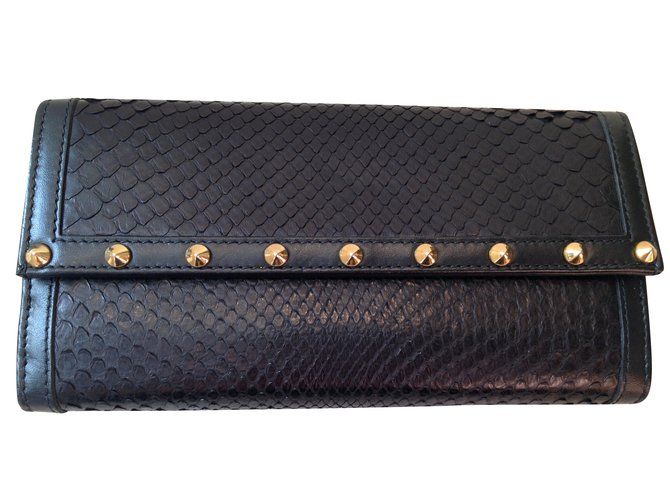57330873d8be Gucci Wallet Wallets Exotic leather Black ref.39900 - Joli Closet