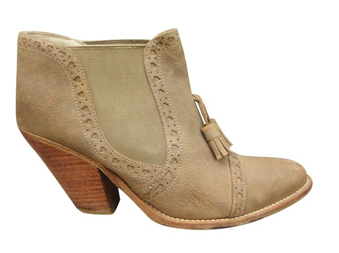 208be1e792b368 Paul   Joe Sister Ankle Boots Ankle Boots Leather Beige ref.39961 ...