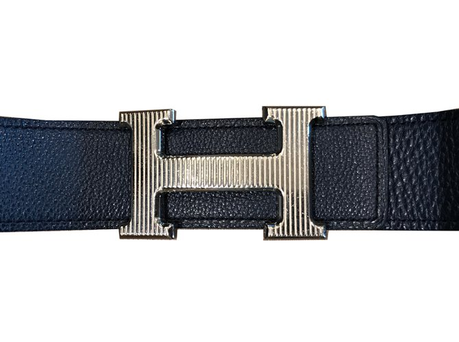 40b20fedbc Ceintures Hermès H ceinture Cuir Bleu Marine ref.39992 - Joli Closet