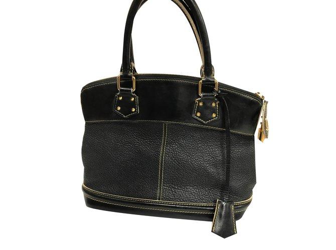 48916088848f Louis Vuitton Handbag Handbags Leather Black ref.40045 - Joli Closet