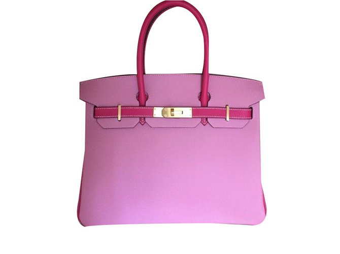 c94adee7b354 Hermès birkin 35 special edition Handbags Leather Pink ref.40202 ...