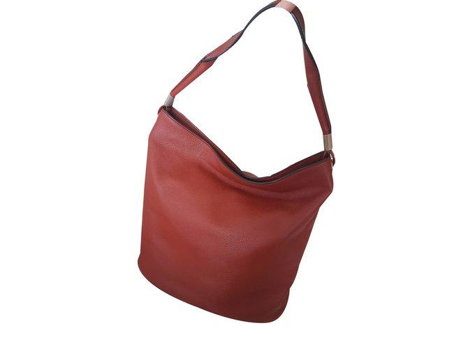 ecf4916bea24 Lancel Handbag Handbags Leather Dark red ref.40215 - Joli Closet