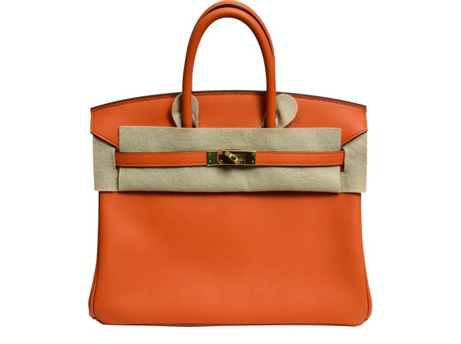 97a23be065bf Hermès Birkin 25 Handbags Leather Orange ref.40216 - Joli Closet