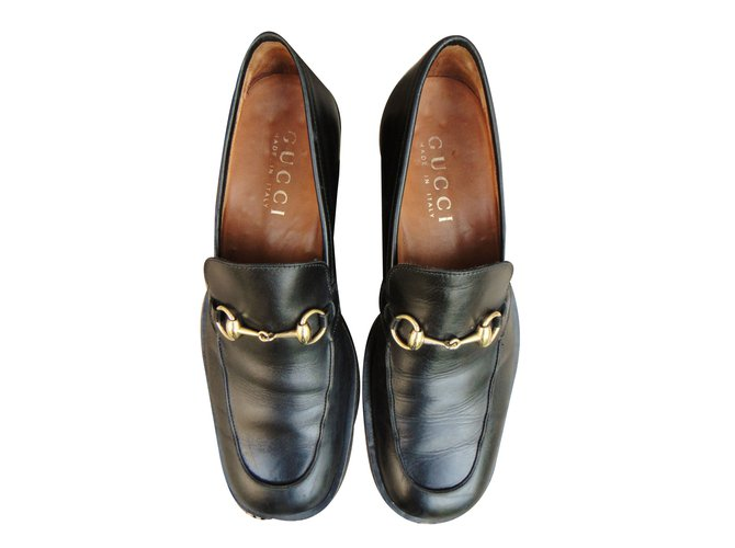 f97a5b76fde2 Gucci Loafers Slip ons Loafers Slip ons Leather Black ref.40244 ...