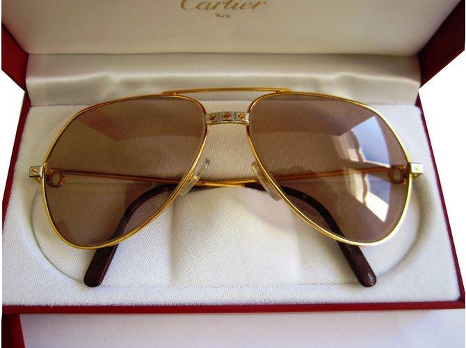 Lunettes Cartier Lunettes Métal Doré ref.40270 - Joli Closet 89ad5b042baf