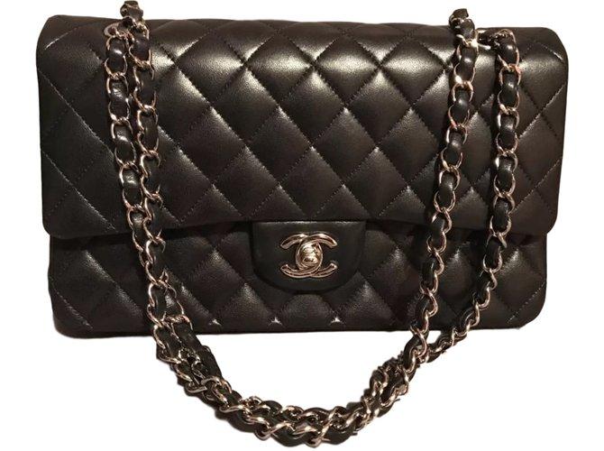 Sacs à main Chanel Sac Chanel Timeless Cuir Noir ref.40442 - Joli Closet 4fa80037f71