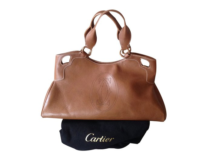 Cartier Marcello Handbags Leather Caramel ref.40610 - Joli Closet bfcccd2b1f805
