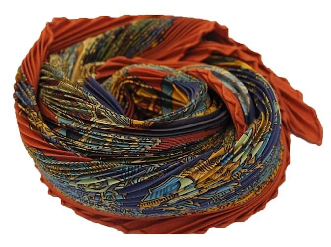 9b0b609b819 Foulards Hermès Superbe carré twill de soie plissé signé Hermès Art des  Steppes Autre Autre ref