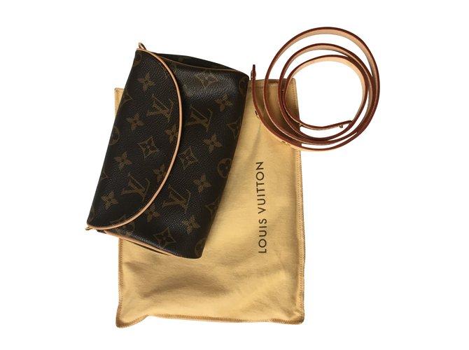 Pochettes Louis Vuitton Pochette ceinture Toile Marron ref.40846 30d16679d26