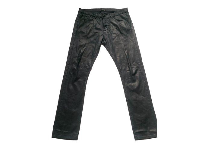 jeans homme the kooples jeans homme coton elasthane noir joli closet. Black Bedroom Furniture Sets. Home Design Ideas