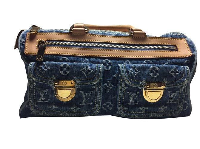 Sacs à main Louis Vuitton Speedy neo denim Jean Bleu ref.40951 ... ba89a9aff3a