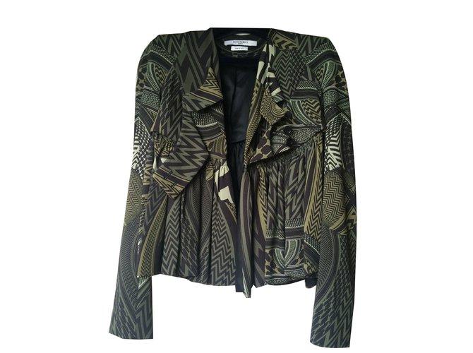 Givenchy 41024 Veste Vestes Viscose Kaki Ref Joli Closet D29WEeIYbH