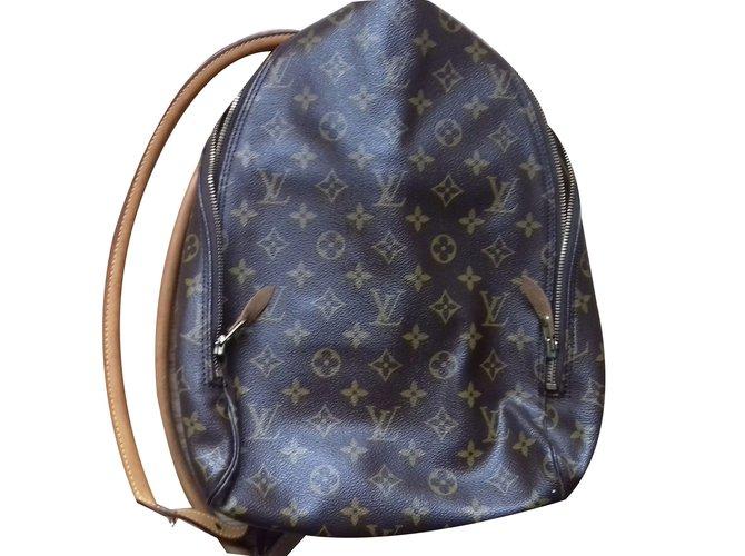 9c152e274c0a Louis Vuitton Backpack Backpacks Leather Dark brown ref.41031 - Joli ...