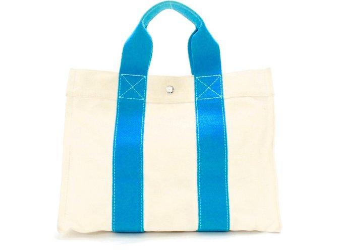 Hermès Handbag Handbags Cotton Beige ref.41104