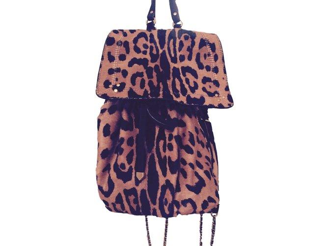 eca8ba25f078c Jerome Dreyfuss Backpacks Backpacks Leather Leopard print ref.41116 ...