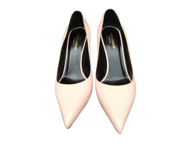 86744fc5508 Yves Saint Laurent Classic Paris Skinny 80 Heels Patent leather Pink  ref.41187