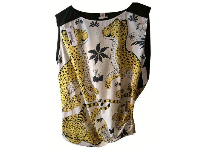 Tops Hermès Top Coton Multicolore ref.41347