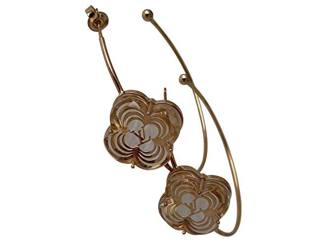 544e88166 Louis Vuitton Earrings Earrings Gold-plated Golden ref.41387 - Joli ...