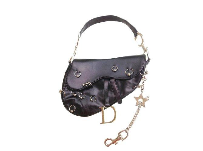 Dior Saddle Handbags Leather Black ref.41612 - Joli Closet 569026ec17084