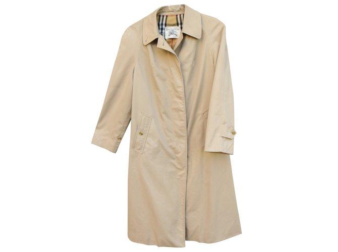 c8c19e9d0d97 Burberry Trench coat Coats, Outerwear Cotton,Polyester Beige ref.41616