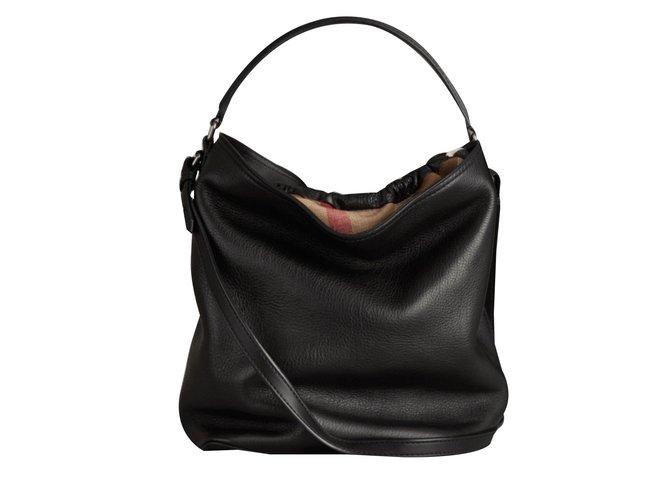 Burberry Brit Handbag Handbags Leather Black Ref 41661