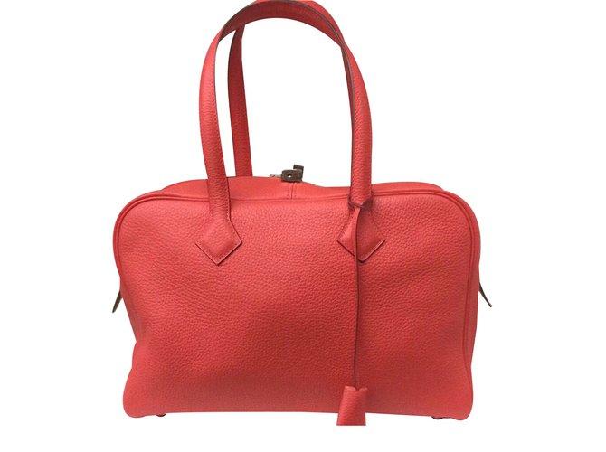Hermès Rouge Neuf En PivoineÉtat Ii Victoria Sac XuiOZkP