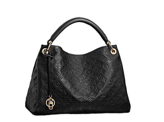 Sacs à main Louis Vuitton Artsy Cuir Noir ref.41795 - Joli Closet e8ab5427be5b