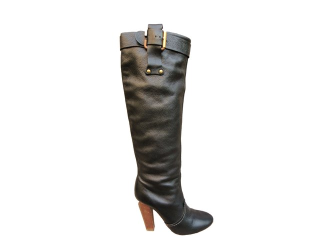 Chloé Boots Boots Leather Black ref.41803